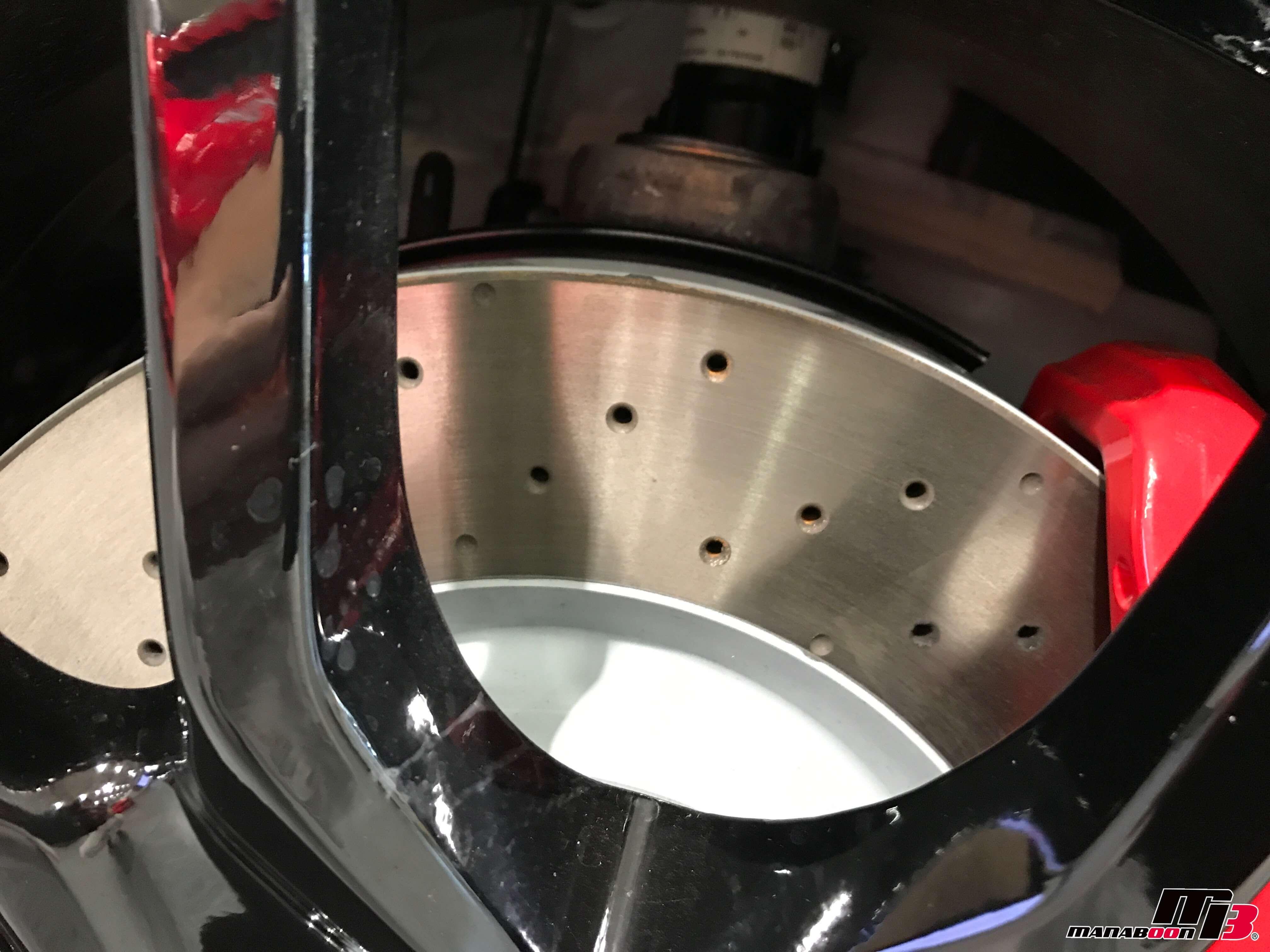 新型シビックタイプR(FK8)ドリルドローター画像
