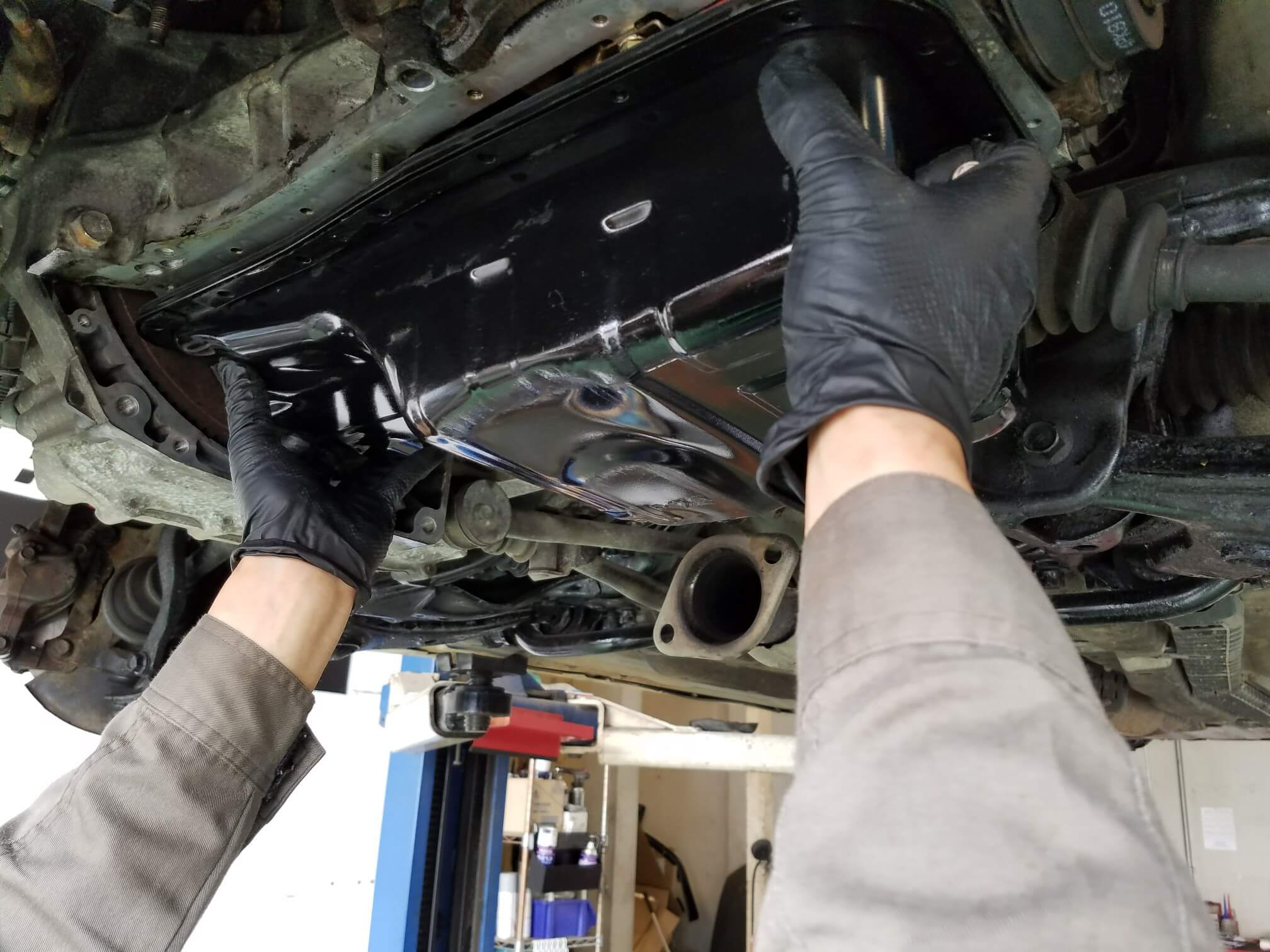 シビックタイプR(EK9)エンジンオイルパンパッキン交換画像