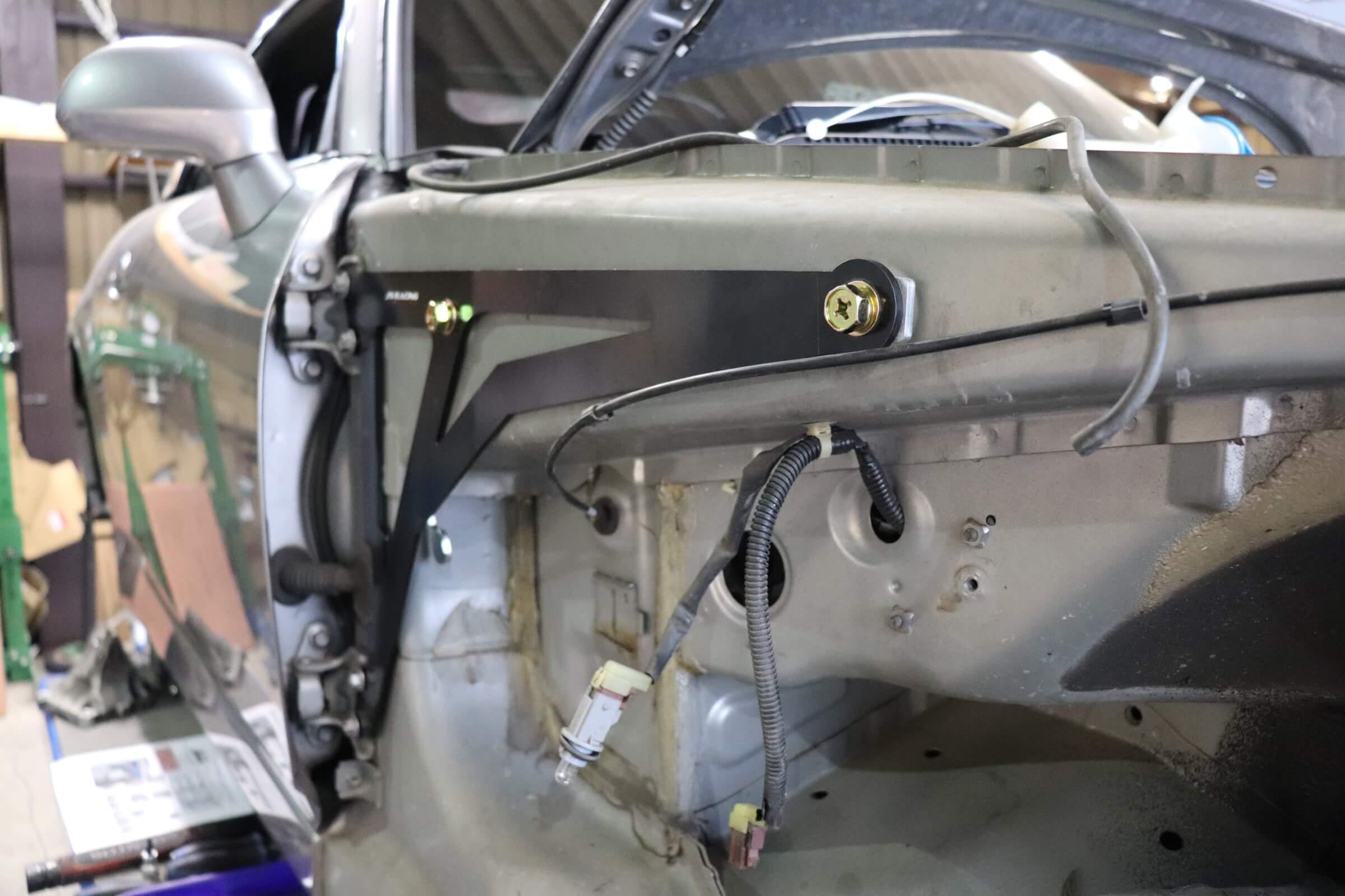 S2000 J'sracingサイドインナーブレース取り付け画像