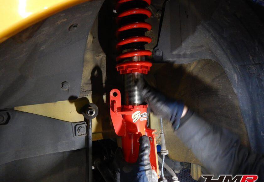 フィットRS(GE8)トライフォース車高調取り付け