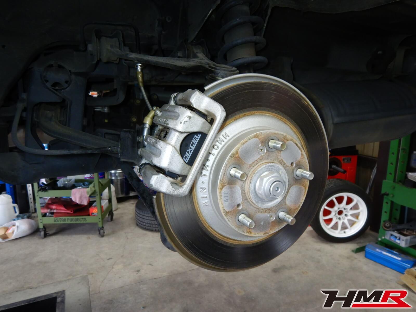 S2000(AP1)ブレーキオーバーホール 無限マイクロメッシュブレーキライン