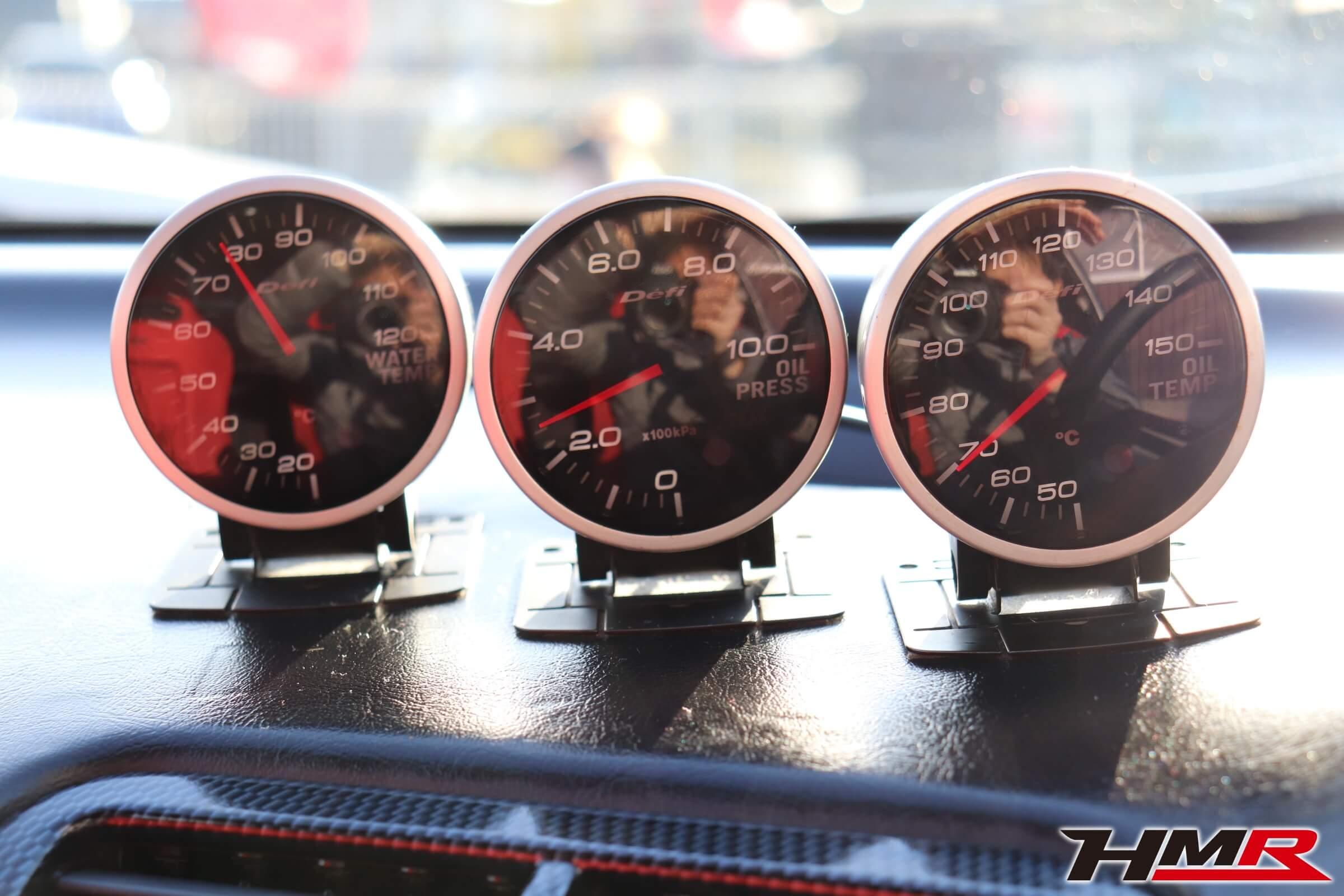 インテグラタイプR(DC2)Defi水温・油温・油圧計